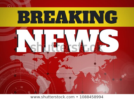Breaking news text in front of world map and interfaces Stock photo © wavebreak_media