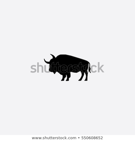 buffalo icon on white and black  Stock photo © Olena
