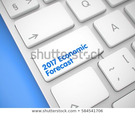 2017 Economic Forecast - Keyboard Key Concept. 3D. Stock photo © tashatuvango