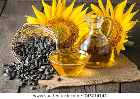 Nasion oleju słonecznika kwiat tle Zdjęcia stock © alinamd