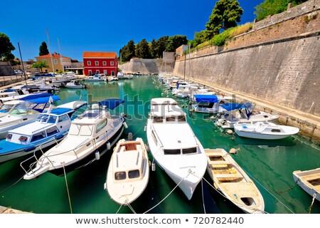 Zadar defense walls and Fosa harbor view Stock photo © xbrchx