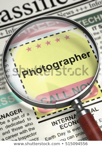 Job Opening Photographer. 3D. Stock photo © tashatuvango