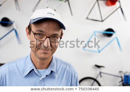 Portret man vrouw fiets werknemer permanente Stockfoto © IS2