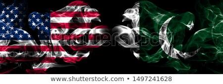 Futball lángok zászló Pakisztán fekete 3d illusztráció Stock fotó © MikhailMishchenko