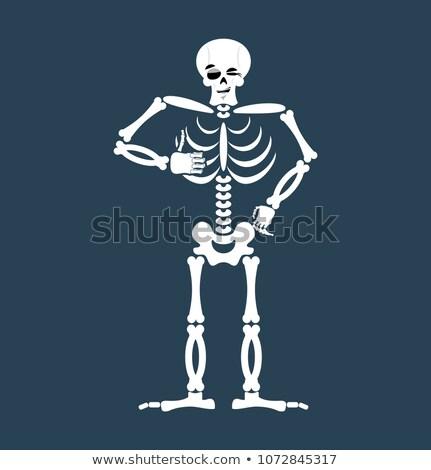 Csontváz remek koponya érzelem izolált emberi Stock fotó © popaukropa