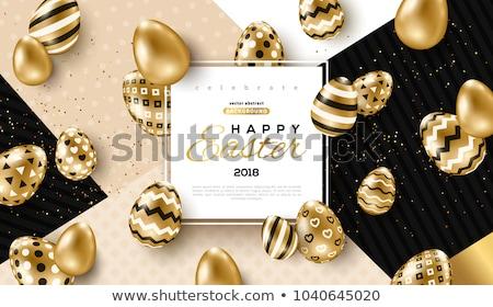 happy easter golden wallpaper vector stock photo © carodi