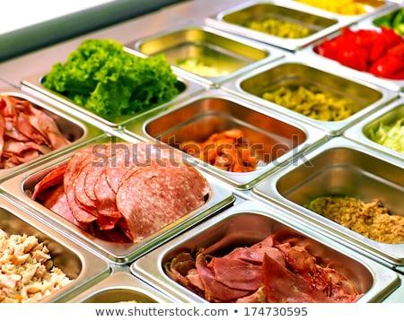調理済みの 食品 ショーケース カフェテリア サラダ ストックフォト © Nobilior