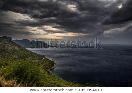 Tempête côte Croatie eau lumière nuit Photo stock © arturkurjan
