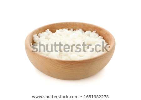 wooden bowl isolated wood dish for grain on white background v stock photo © maryvalery