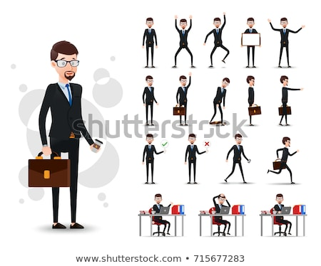 Boy with glasses in different actions Stock photo © bluering