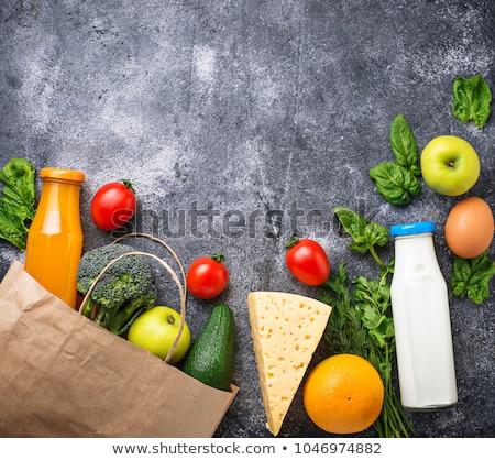 Papírzacskó egészséges organikus termék étel gyümölcs Stock fotó © M-studio