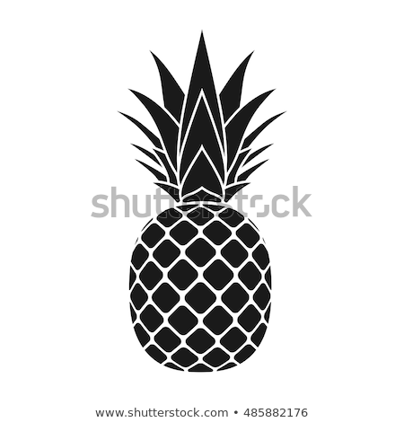 Ananás fruto preto e branco silhueta simples projeto Foto stock © hittoon