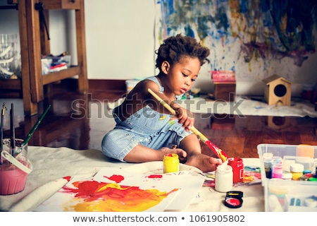çocuklar boyama kâğıt büro boya fırçası kafkas Stok fotoğraf © IS2