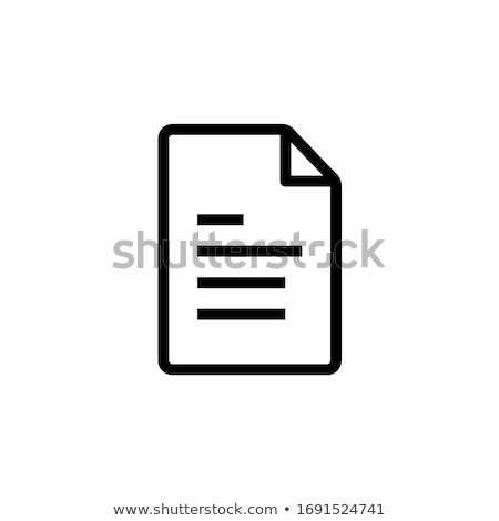 zip document paper outline icon isolated note paper icon in thin line style for graphic and web des stock photo © taufik_al_amin