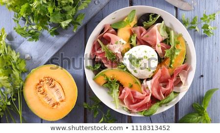 Meloen mozzarella prosciutto vers ham Stockfoto © M-studio