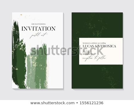 Frame with Stone and Emeralds Vector Poster Border Stock photo © robuart