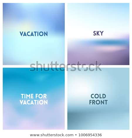 Abstract vector sunset blurred background set. Square blurred background - sky clouds colors With lo Stock photo © MarySan