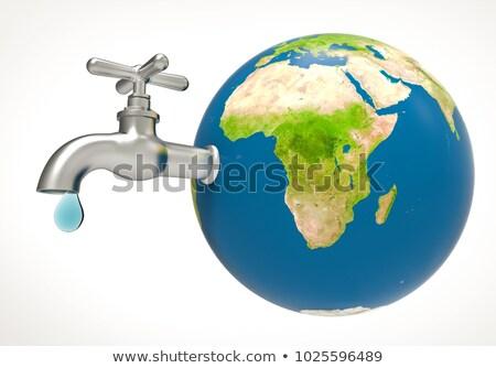 Föld vízcsap izolált víz erőforrások bolygó Stock fotó © popaukropa