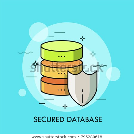 Database lijn iconen netwerken moderne Stockfoto © Genestro