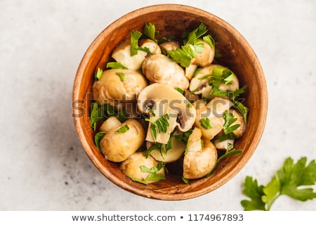 Baked champignons mushrooms Stock photo © Melnyk