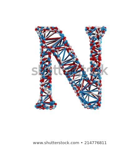 Physique noyau typographie illustration nucléaire Photo stock © lenm