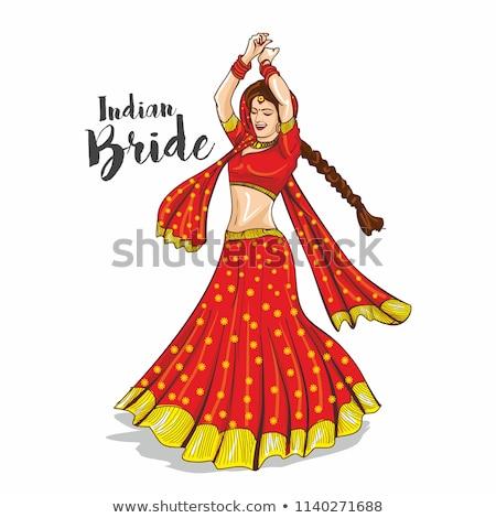 Noiva dança sorridente sorrindo longo Foto stock © robuart