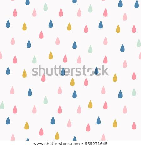 Sevimli vektör model yağmur damla mavi Stok fotoğraf © Pravokrugulnik