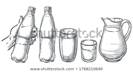 стекла бутылку напиток серый Cap пузырьки Сток-фото © robuart