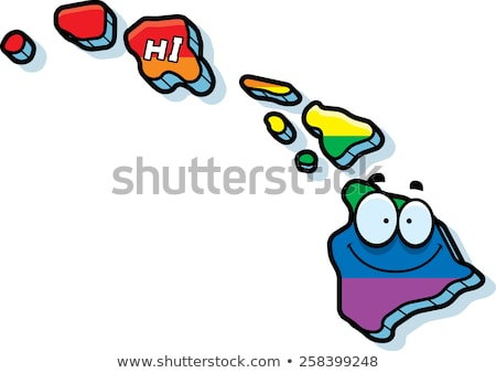 Cartoon Hawaii illustration souriant Rainbow Photo stock © cthoman