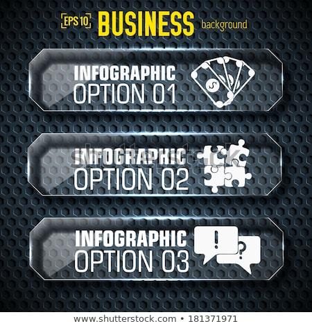 Business tech sjabloon tekst velden Stockfoto © Linetale