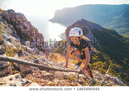 Mountain climber with special equipment Stock photo © jossdiim