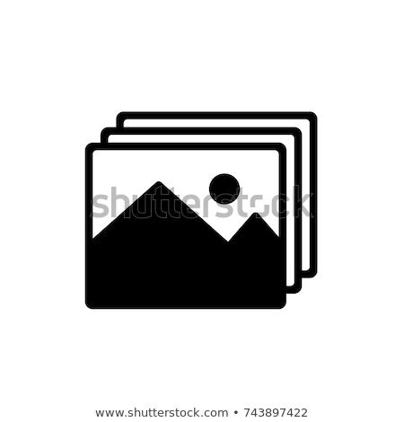 Mappa ikon kép galéria trendi stílus Stock fotó © kyryloff