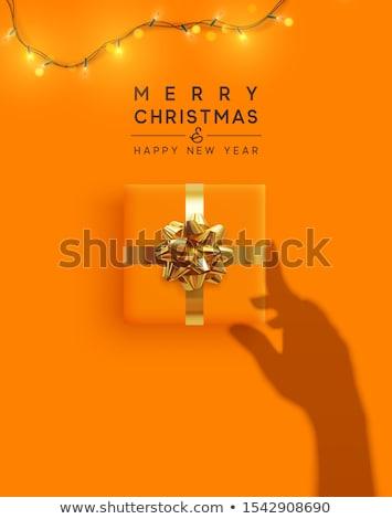 karácsony · táska · ajándékok · ikon · vektor · hosszú - stock fotó © dashadima