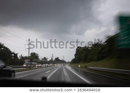 korku · miasta · rząd · samochody · drogowego · spieszyć · godzin - zdjęcia stock © lightpoet