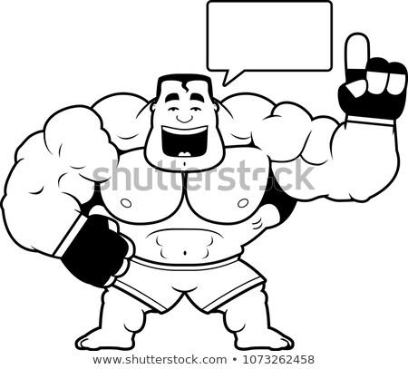 Cartoon истребитель говорить иллюстрация спортивных мужчин Сток-фото © cthoman