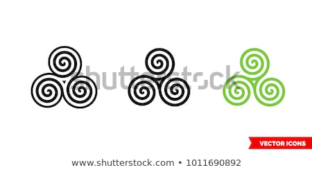 Preto infinito spiralis símbolo vetor assinar Foto stock © blaskorizov