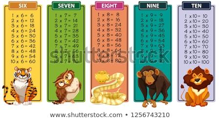 Osiem tabeli węża ilustracja dziecko tle Zdjęcia stock © bluering