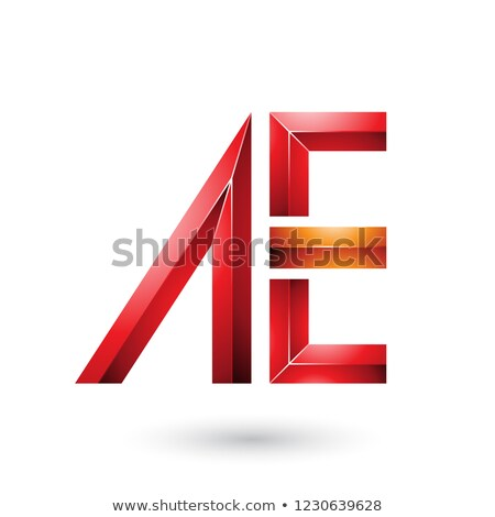 Red and Orange Glossy Dual Letters of A and E Vector Illustratio Stock photo © cidepix