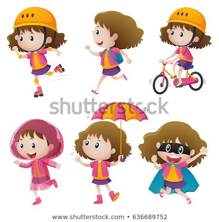 girls doing different actions stock photo © colematt