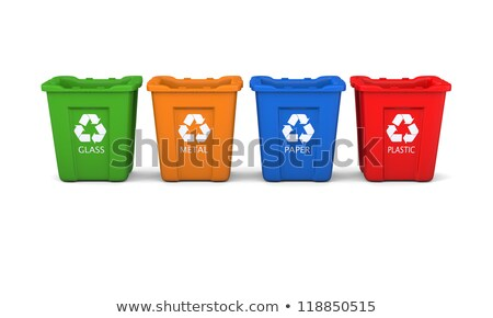 Four colorful recycle bins 3D Stock photo © djmilic