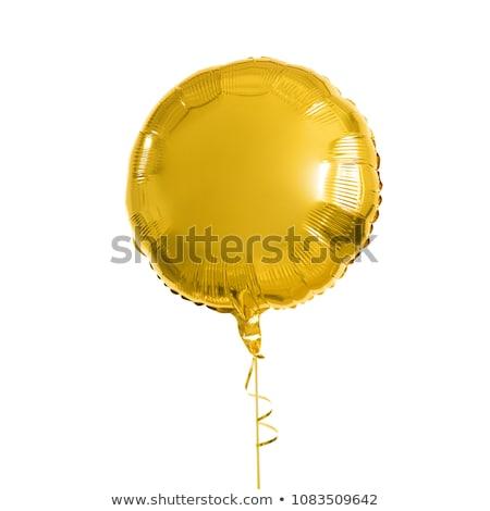 close up of helium balloons over white background Stock photo © dolgachov