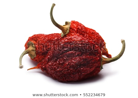 Whole dried Habaneros (Capsicum chinense), paths Stock photo © maxsol7