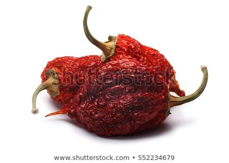 whole dried habaneros capsicum chinense paths stock photo © maxsol7
