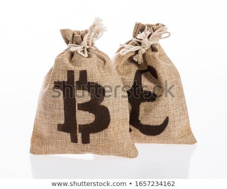 Csere másolat érmék logo piac embléma Stock fotó © tashatuvango