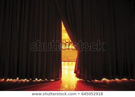 Fase theater lichten licht achtergrond donkere Stockfoto © colematt