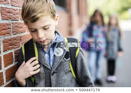 szkoły · smutne · samotny · dziecko · dzieci - zdjęcia stock © lopolo