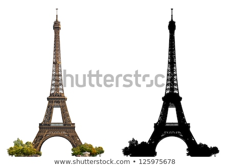 ヴィンテージ · エッフェル塔 · 画像 · パリ · 空 · 光 - ストックフォト © boggy