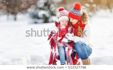 gyönyörű · lány · szőrös · kalap · tél · nő · portré · divat - stock fotó © anna_om