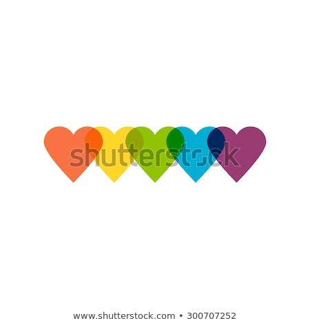 logo · coeur · Rainbow · design · gay · lesbiennes - photo stock © blaskorizov
