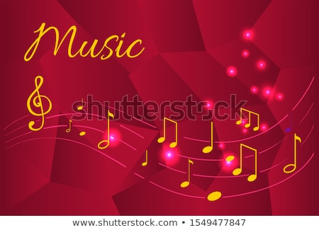 Music Notes, Organized Tablature Tunes Sounds Stock photo © robuart